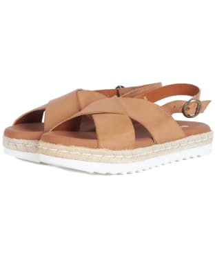 Women's Barbour Aisla Sandals - Tan Nubuck