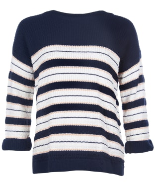 Women's Barbour Newhaven Knit Sweater - Navy