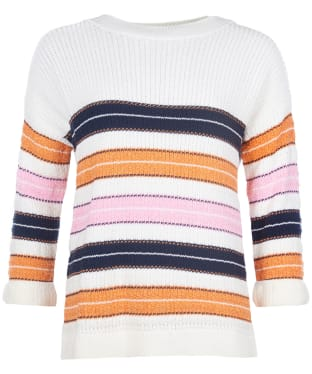 Women's Barbour Newhaven Knit Sweater - Sunstone Orange