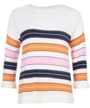 Women's Barbour Newhaven Knit Sweater - Sunstone Orange