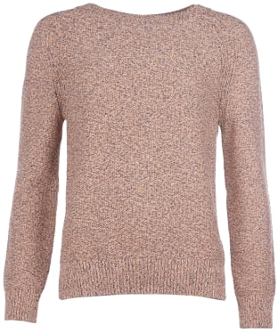 Women's Barbour Shoreline Knit Sweater - Sunstone Orange