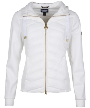 Women's Barbour International Spitfire Sweater - Optic White