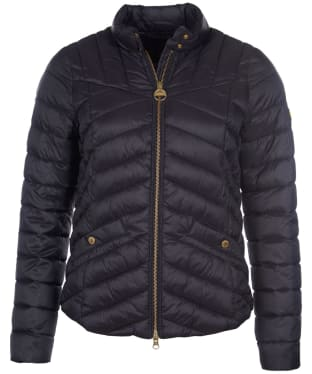 Women's Barbour International Interceptor Quilted Jacket - Black