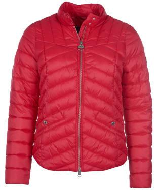 Women's Barbour International Interceptor Quilted Jacket - Siam