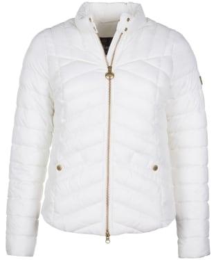 Women's Barbour International Interceptor Quilted Jacket - Optic White