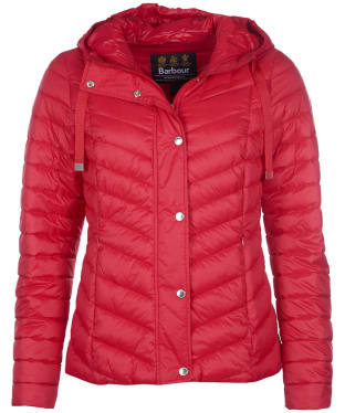 Women's Barbour International Lightning Quilted Jacket - Siam