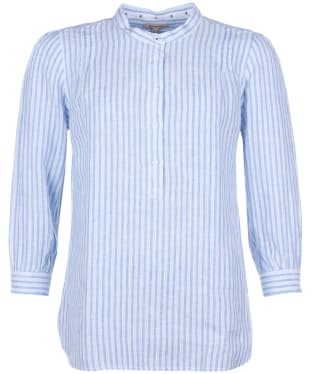 Women's Barbour Dover Shirt - Blue / White Stripe
