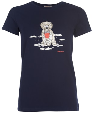 Women's Barbour Beach Dog Tee - Navy
