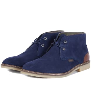 Men's Barbour Kalahari Desert Boots - New Navy Suede