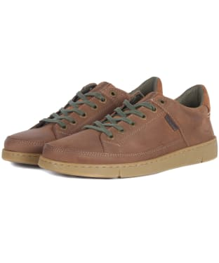Men's Barbour Bilby Suede Trainers - Whiskey Suede