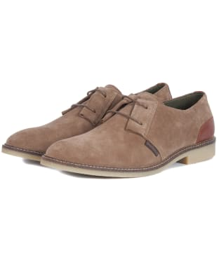 Men's Barbour Gobi Desert Shoes - Taupe Suede