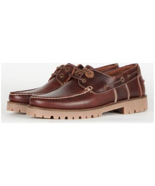 Men's Barbour Stern Leather Shoes - Mahogany Leather