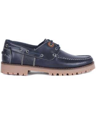 Men's Barbour Stern Leather Shoes - Navy Leather