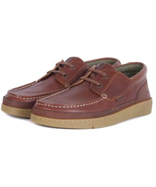 Men's Barbour Joey Leather Shoes - Cognac Texas