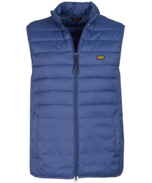Men's Barbour International Burn Gilet - Blue Metal