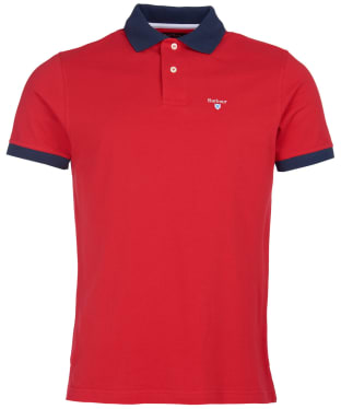 Men's Barbour Lynton Polo - Salsa