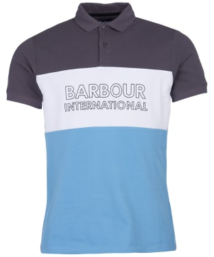 Men's Barbour International Bold Polo Shirt - Dusk Grey