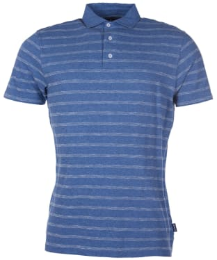 Men's Barbour Blyth Stripe Polo Shirt - Chambray
