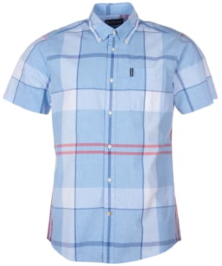 Men's Barbour Croft S/S Shirt - Sky
