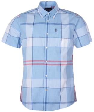 Men's Barbour Croft S/S Shirt - Sky