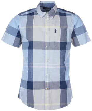Men's Barbour Croft S/S Shirt - Ocean Blue