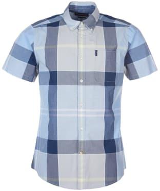 Men's Barbour Croft S/S Shirt - Ocean Blue