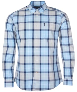 Men's Barbour Burnside Shirt - Ocean Blue Check