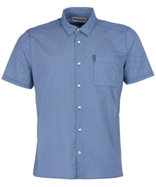 Men's Barbour Summer Print S/S Shirt - Chambray Print
