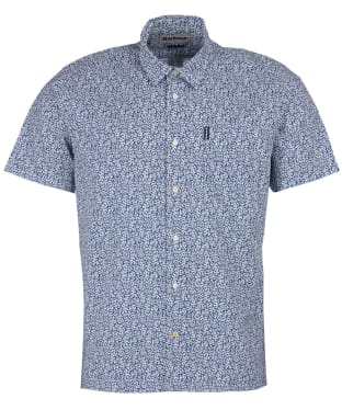 Men's Barbour Summer Print S/S Shirt - Navy Print