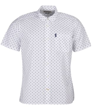Men's Barbour Summer Print S/S Shirt - White Print