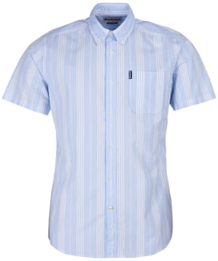 Men's Barbour Stripe 10 S/S Tailored Shirt - Sky Stripe