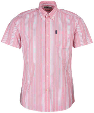 Men's Barbour Stripe 10 S/S Tailored Shirt - Red Stripe
