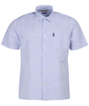 Men's Barbour Linen Mix 5 S/S Summer Shirt - Sky