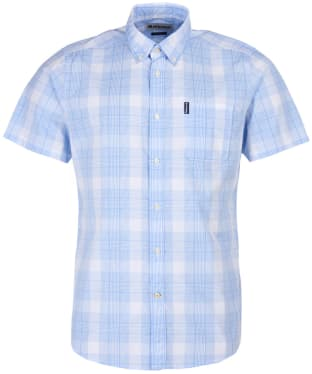 Men's Barbour Highland Check 29 S/S Tailored Shirt - Sky Check