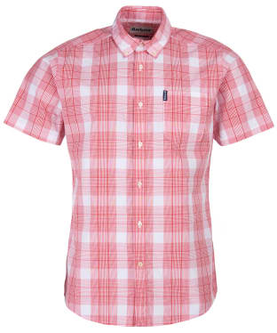 Men's Barbour Highland Check 29 S/S Tailored Shirt - Red Check