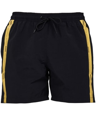 Men's Barbour International Stripe Swim Shorts - Black