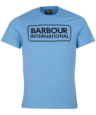 Men's Barbour International Essential Large Logo Tee - Cool Blue