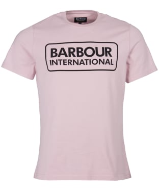 Men's Barbour International Essential Large Logo Tee - Dusk Pink