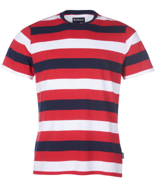 Men's Barbour Duridge Stripe Tee - Salsa