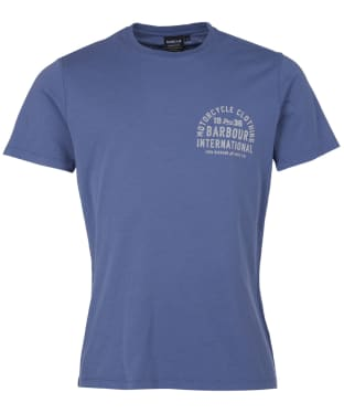 Men's Barbour International Visor Tee - Blue Metal