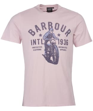 Men's Barbour International Visor Tee - Dusk Pink