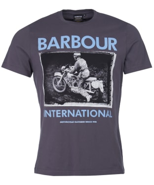 Men's Barbour International Frame Tee - Dusk Grey