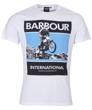 Men's Barbour International Frame Tee - White