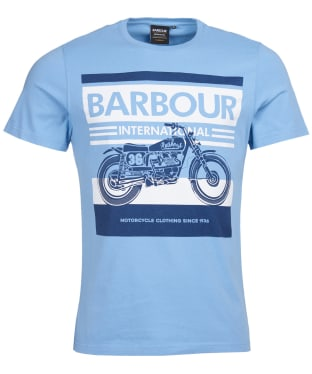 Men's Barbour International Burn Tee - Cool Blue