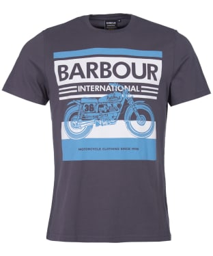 Men's Barbour International Burn Tee - Dusk Grey