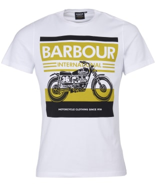 Men's Barbour International Burn Tee - White