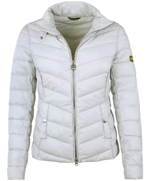 Women's Barbour International Aubern Quilted Jacket - Ice White