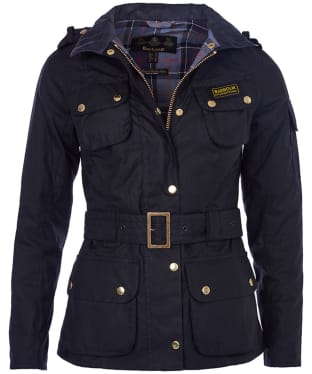 Women's Barbour International Wax Jacket - Black