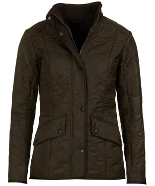 Women's Barbour Cavalry Polarquilt Jacket - Dark Olive