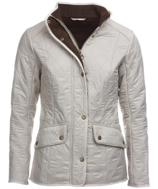 Women's Barbour Cavalry Polarquilt Jacket - Pearl